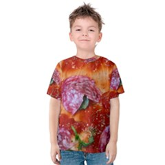 Pizza Topping By Sandi Kid s Cotton Tee