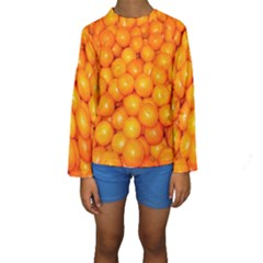 Oranges By Sandi Kid s Long Sleeve Swimwear