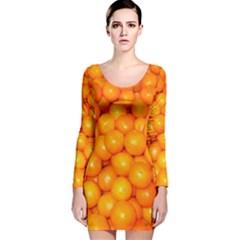 Oranges By Sandi Long Sleeve Velvet Bodycon Dress