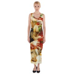 Pizza By Sandi Fitted Maxi Dress