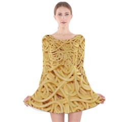 Spaghetti By Sandi Long Sleeve Velvet Skater Dress