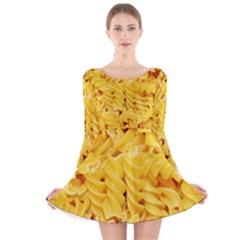 Fusilli By Sandi Long Sleeve Velvet Skater Dress