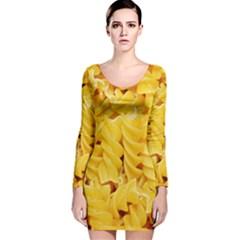 Fusilli By Sandi Long Sleeve Velvet Bodycon Dress