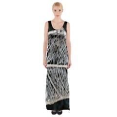 Modern Leaf Maxi Thigh Split Dress