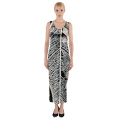 Modern Leaf 2 Fitted Maxi Dress