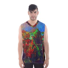 Chicago Park Painting Men s Basketball Tank Top