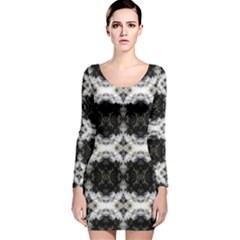 Havana lit230414001010 Long Sleeve Velvet Bodycon Dress
