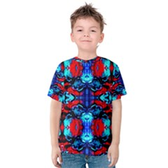 Red Black Blue Art Pattern Abstract Kid s Cotton Tee