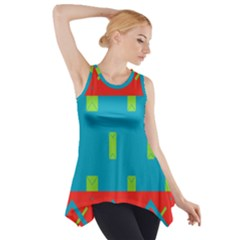 Chevrons and rectangles Side Drop Tank Tunic
