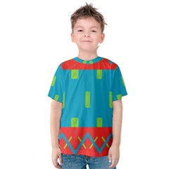 Chevrons and rectangles Kid s Cotton Tee