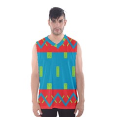 Chevrons and rectangles Men s Basketball Tank Top