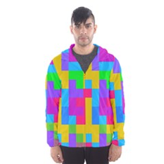 Colorful Tetris Shapes Mesh Lined Wind Breaker (men)