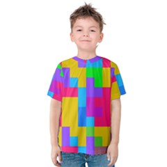 Colorful tetris shapes Kid s Cotton Tee