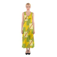 Squares And Stripes Full Print Maxi Dress