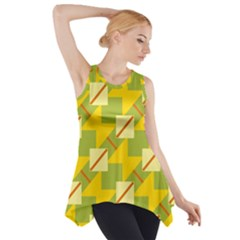 Squares And Stripes Side Drop Tank Tunic