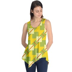 Squares And Stripes Sleeveless Tunic