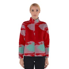 Red pink green texture Winter Jacket