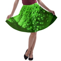 Green And Powerful A Line Skater Skirt