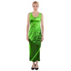 Green And Powerful Fitted Maxi Dress