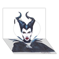 Maleficent Drawing Heart 3d Greeting Card (7x5)