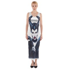 Maleficent Drawing Fitted Maxi Dress