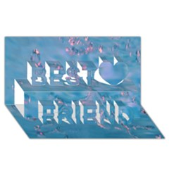 Abstract Waters With Hints Of Pink Best Friends 3d Greeting Card (8x4)