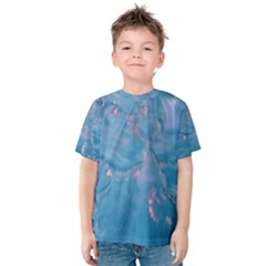 Abstract Waters With Hints Of Pink Kid s Cotton Tee