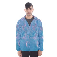 Abstract Waters with hints of Pink Hooded Wind Breaker (Men)