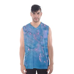 Abstract Waters with hints of Pink Men s Basketball Tank Top