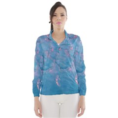 Abstract Waters with hints of Pink Wind Breaker (Women)