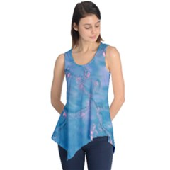 Abstract Waters With Hints Of Pink Sleeveless Tunic