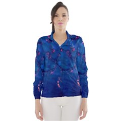 Dark Blue Waters with hints of pink Wind Breaker (Women)