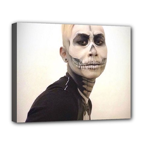 Halloween Skull And Tux  Deluxe Canvas 20  X 16
