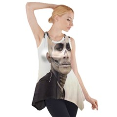 Halloween Skull And Tux  Side Drop Tank Tunic