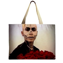 Halloween Skull Tux And Roses  Zipper Tiny Tote Bags