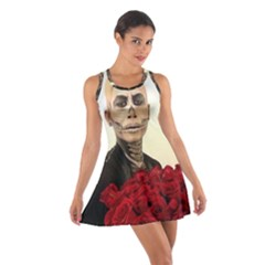 Halloween Skull Tux And Roses  Racerback Dresses