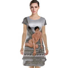 Angel And The Piano Drawing Cap Sleeve Nightdress