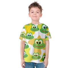 Cute Frog Family Whimsical Kid s Cotton Tee
