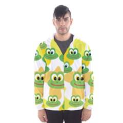 Cute Frog Family Whimsical Hooded Wind Breaker (Men)