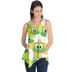 Cute Frog Family Whimsical Sleeveless Tunic