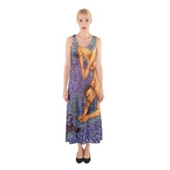 Zodiac Signs Scorpio Drawing Full Print Maxi Dress