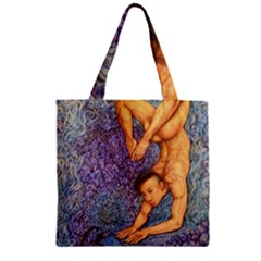 Zodiac Signs Scorpio Drawing Zipper Grocery Tote Bags