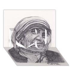 Mother Theresa  Pencil Drawing I Love You 3d Greeting Card (7x5)