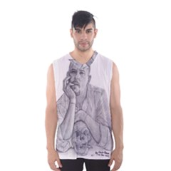 Alexander Mcqueen Pencil Drawing Men s Basketball Tank Top