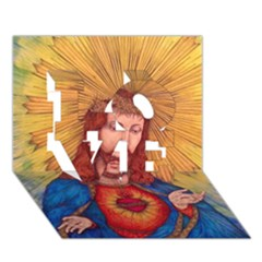 Sacred Heart Of Jesus Christ Drawing Love 3d Greeting Card (7x5)