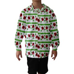Cute Whimsical Ladybugs And Shamrocks Double Luck Irish Hooded Wind Breaker (Kids)