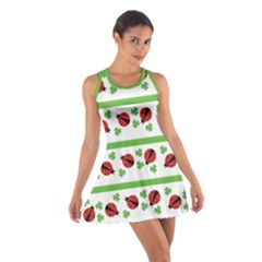 Cute Whimsical Ladybugs And Shamrocks Double Luck Irish Racerback Dresses
