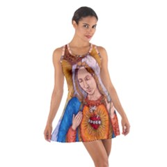 Immaculate Heart Of Virgin Mary Drawing Racerback Dresses