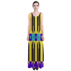 Rhombus and other shapes pattern Full Print Maxi Dress