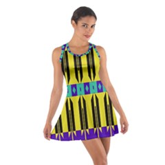 Rhombus And Other Shapes Pattern Cotton Racerback Dress